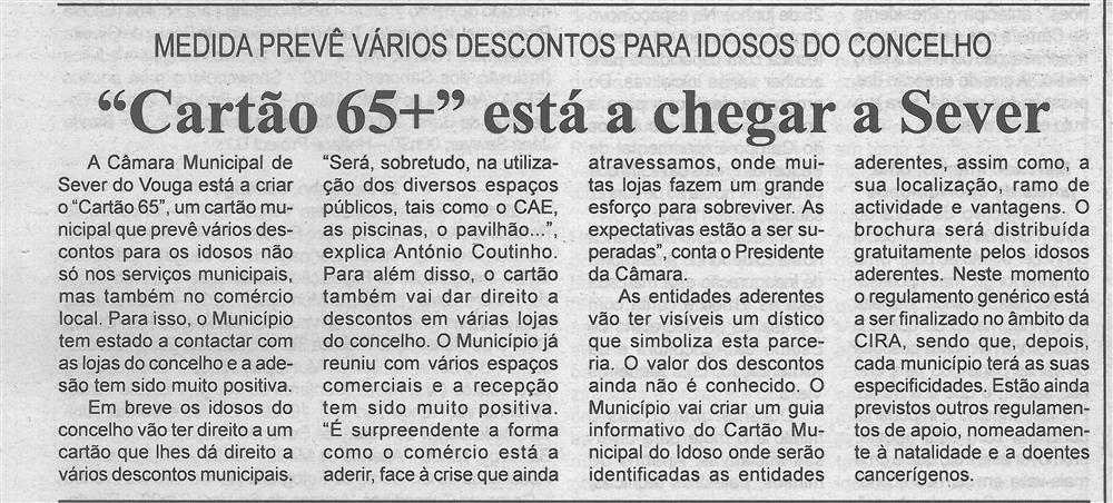 BV-2.ªjun.'16-p.6-Cartão 65+ está a chegar a Sever : medida prevê vários descontos para idosos do concelho.jpg