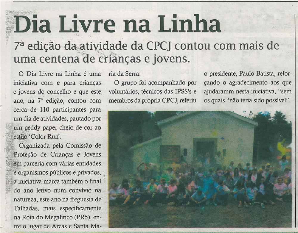 TV-jul.'17-p.18-Dia Livre na Linha : 7.ª edição da atividade da CPCJ contou com mais de uma centena de crianças e jovens.jpg