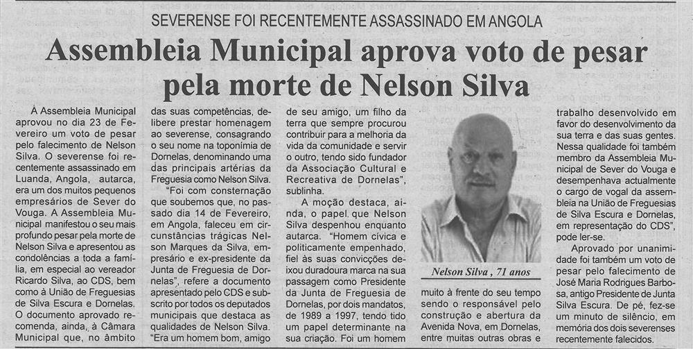 BV-1.ªmar.'18-p.4-Assembleia Municipal aprova voto de pesar pela morte de Nelson Silva : severense foi recentemente assassinado em Angola.jpg