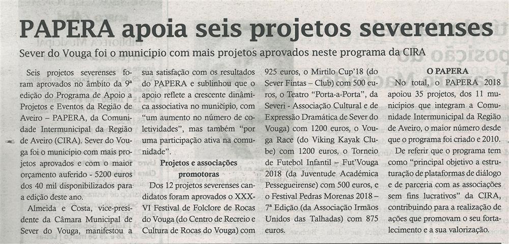 TV-mar.'18-p.16-PAPERA apoia seis projetos severenses : Sever do Vouga foi o município com mais projetos aprovados neste programa da CIRA.jpg