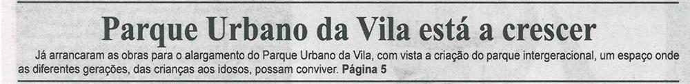 BV-1.ªdez.'14-p.1-Parque Urbano da Vila está a crescer.jpg