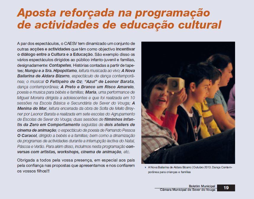 BoletimMunicipal-nº 31-nov'14-p.19-Aposta reforçada na programação de atividades de educação cultural : cultura e turismo.JPG