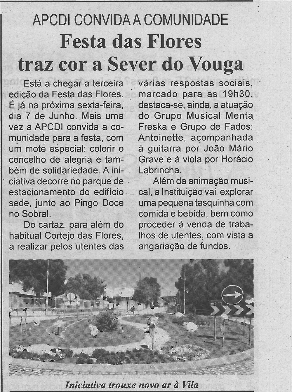 BV-1.ªjun.'19-p.5-Festa das Flores traz cor a Sever do Vouga : APCDI convida a comunidade.jpg