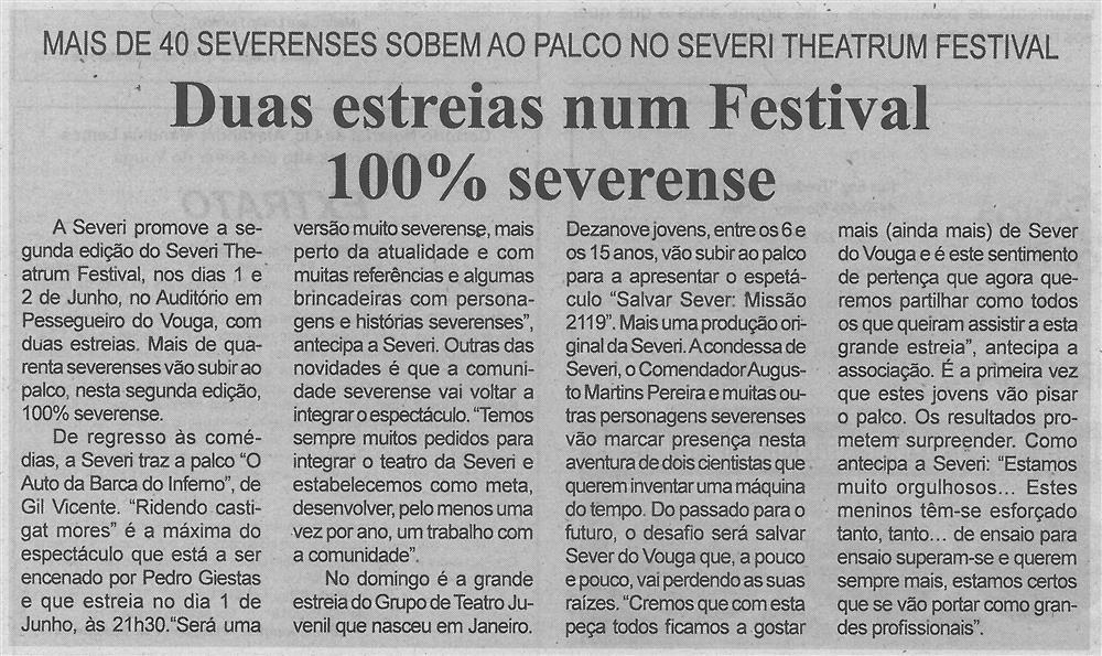 BV-2.ªmaio'19-p.3-Duas estreias num Festival 100% severense : mais de 40 severenses sobem ao palco no Severi Theatrum Festival.jpg