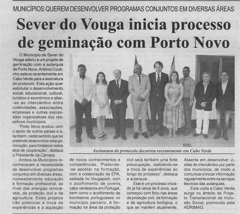 BV-2.ªdez.'19-p.6-Sever do Vouga inicia processo de geminação com Porto Novo : Municípios querem desenvolver programas conjuntos em diversas áreas.jpg