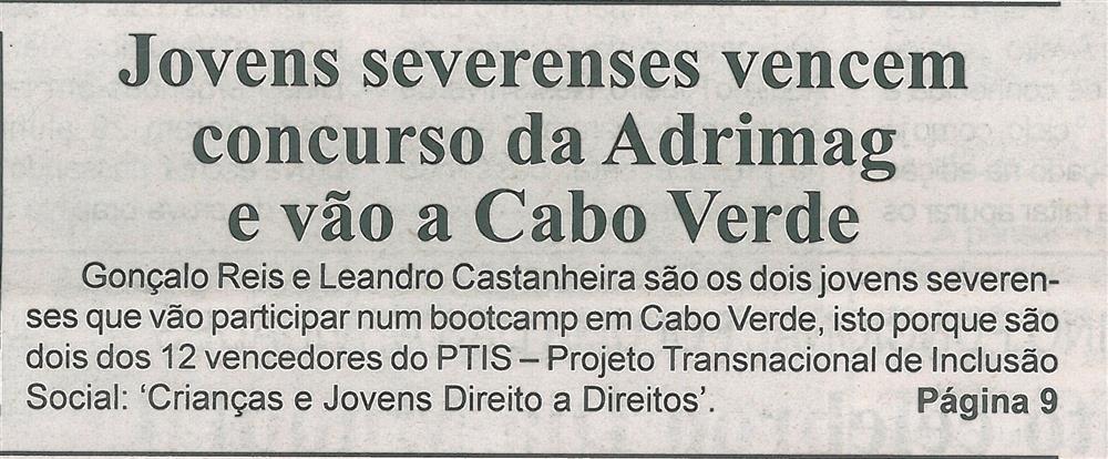BV-2.ªfev.'20-p.1-Jovens severenses vencem concurso da Adrimag e vão a Cabo Verde.jpg