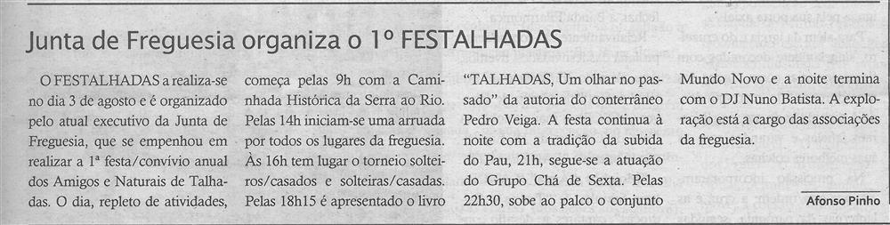 TV-ago.'19-p.13-Junta de Freguesia organiza o 1.º FesTalhadas : paróquias e freguesias : Paróquia de São Mamede, Talhadas.jpg