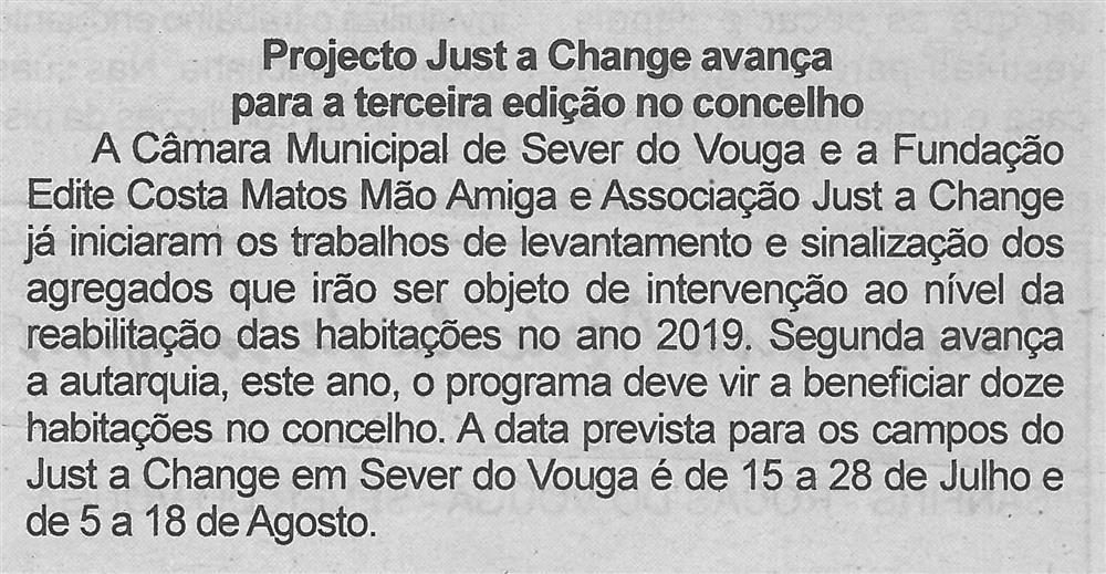 Projecto Just a Change avança para a terceira edição no concelho.jpg