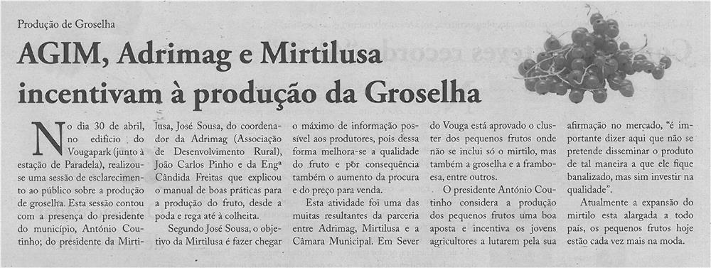 JPEG: EV-maio'14-p4-AGIM, Adrimag e Mirtilusa incentivam à produção da groselha : produção de groselha