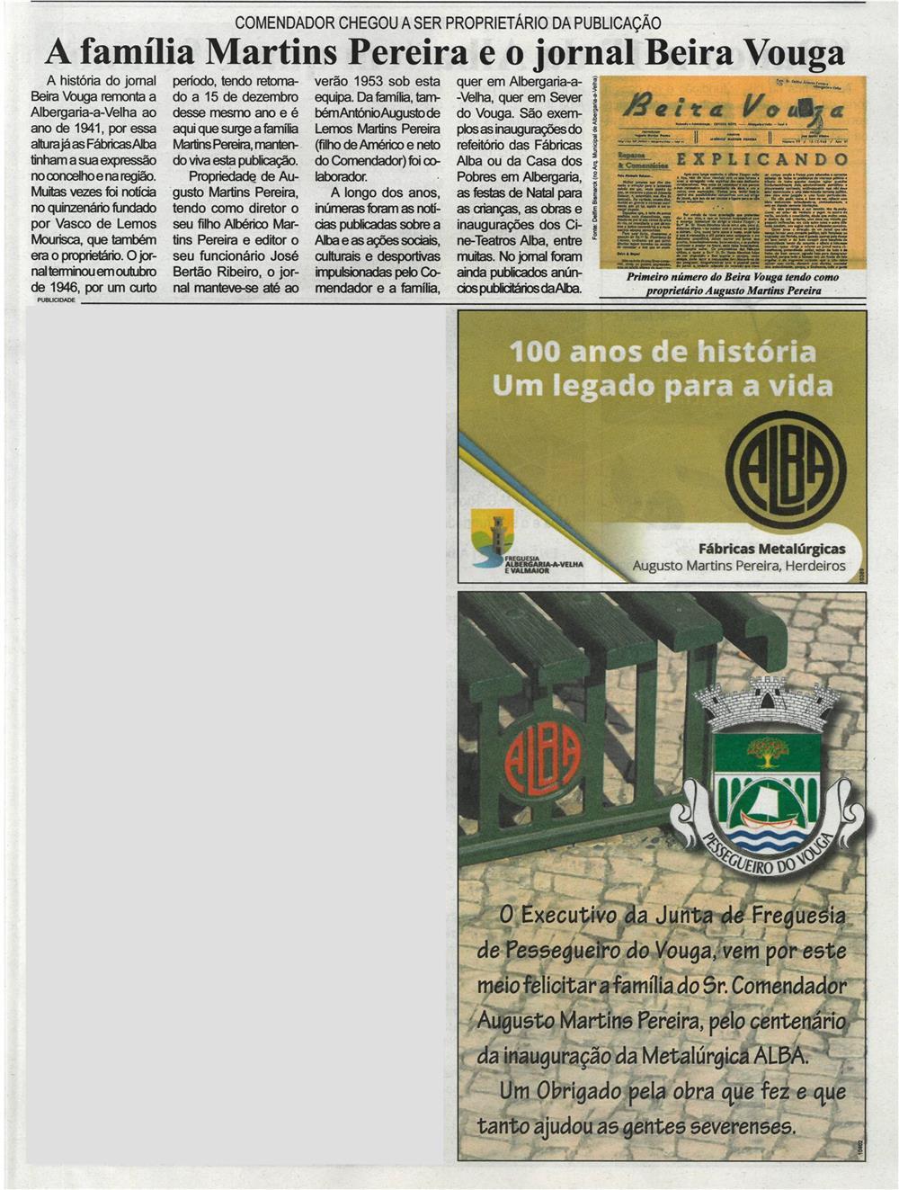 BV-1.ªmar.'21-p.11-Alba, uma história de 100 anos [4.ª parte de nove] : a Família Martins Pereira e o jornal Beira Vouga : Comendador chegou a ser proprietário da publicação.jpg