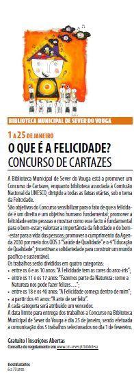 AgendaRBM-jan.-mar.'19-p.5-Biblioteca Municipal de Sever do Vouga : o que é a felicidade : concurso de cartazes.JPG