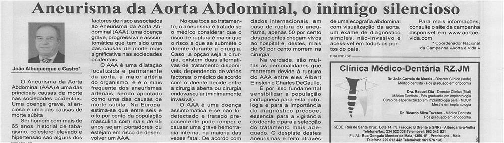 BV-1ªfev13-p15-Aneurisma da Aorta Abdominal, o inimigo silencioso