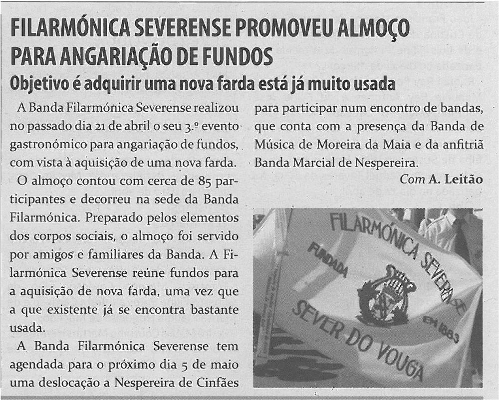TV-maio13-p15-Filarmónica Severense promoveu almoço