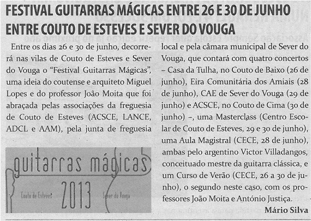 TV-jun13-p17-Festival Guitarras Mágicas entre 26 e 30 de junho