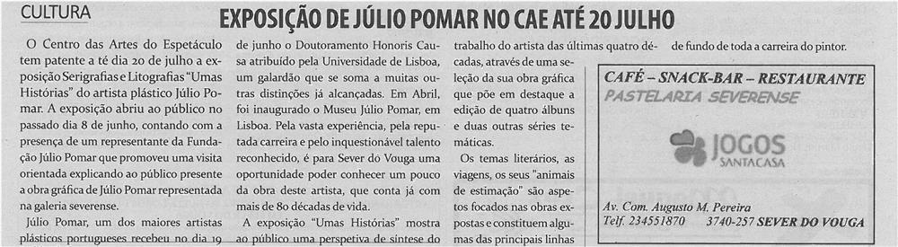 TV-jul13-p15-Exposição de Júlio Pomar no CAE até 20 julho