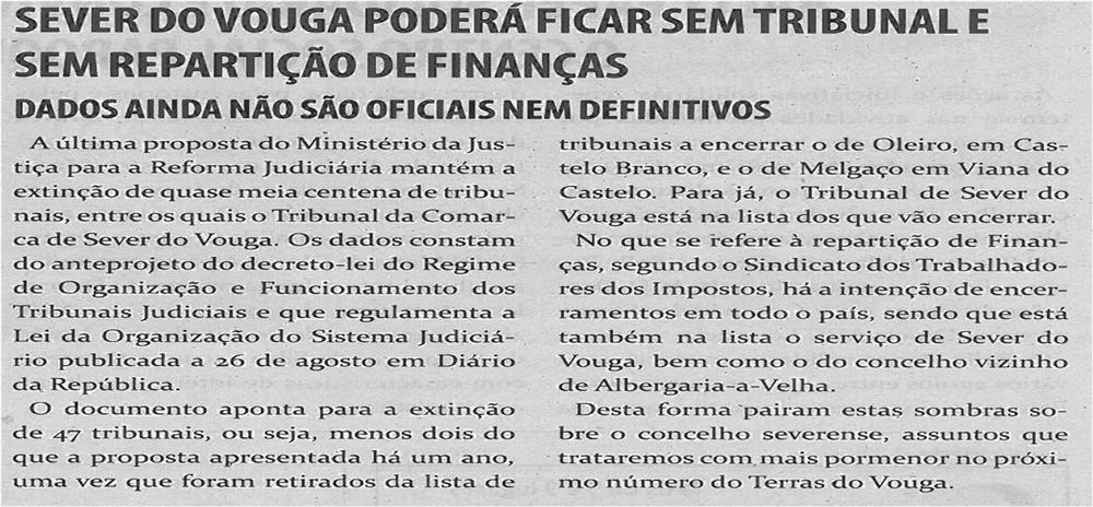 TV-nov13-p4-Sever do Vouga poderá ficar sem tribunal e sem repartição de finanças