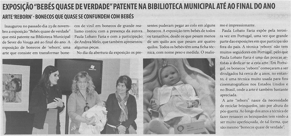 TV-dez13-p4-Exposição Bebés quase de verdade patente na Biblioteca Municipal até ao final do ano