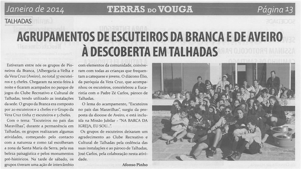 TV-jan14-p13-Agrupamentos de escuteiros da Branca e de Aveiro à descoberta em Talhadas