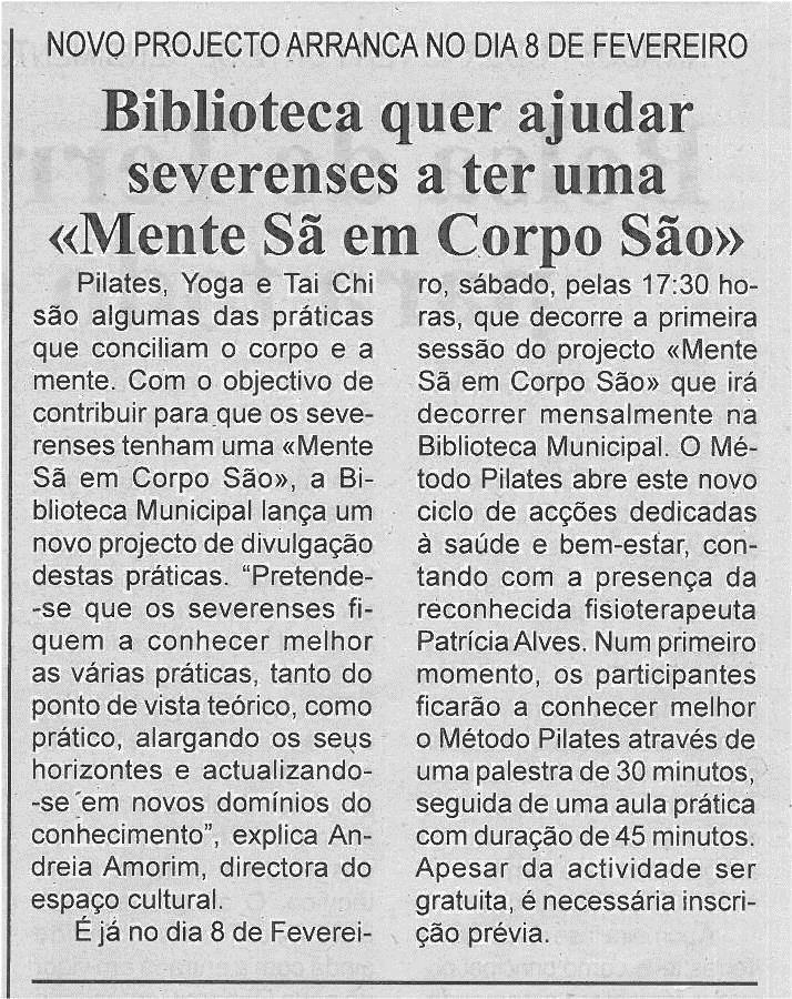 BV-1ªfev'14-p4-Biblioteca quer ajudar severenses a ter uma mente sã em corpo são : novo projecto arranca no dia 8 de fevereiro