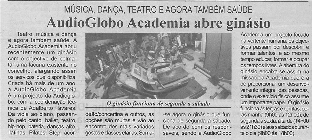 BV-1ªfev'14-p4-AudioGlobo Academia abre ginásio