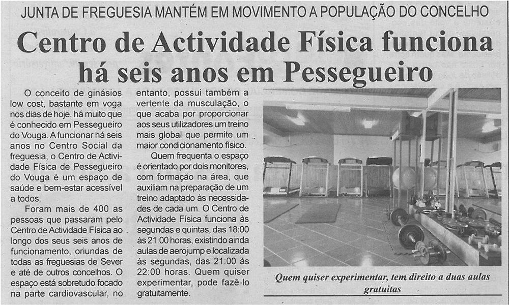JPEG: BV-2ªmar'14-p6-Centro de Actividade Física funciona há seis anos em Pessegueiro : Junta de Freguesia mantém em movimento a população do concelho