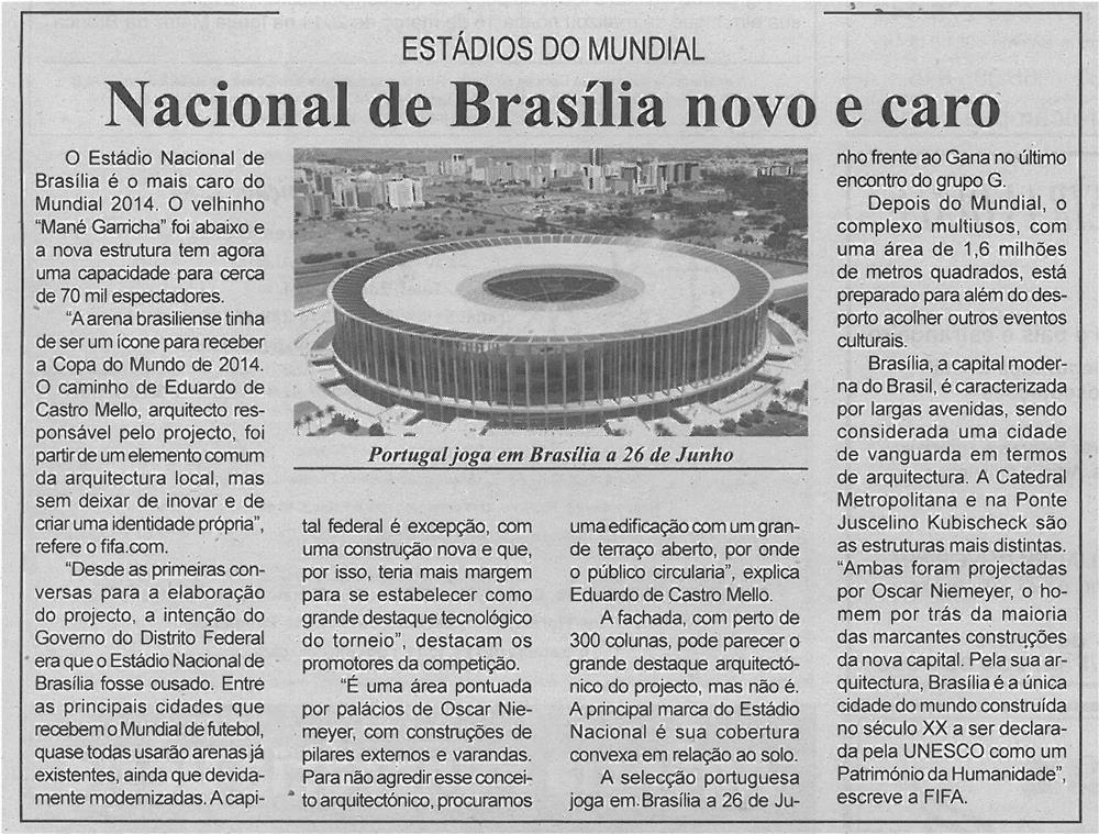 JPEG: BV-2ªmar'14-p13-Nacional de Brasília novo e caro : estádios do Mundial