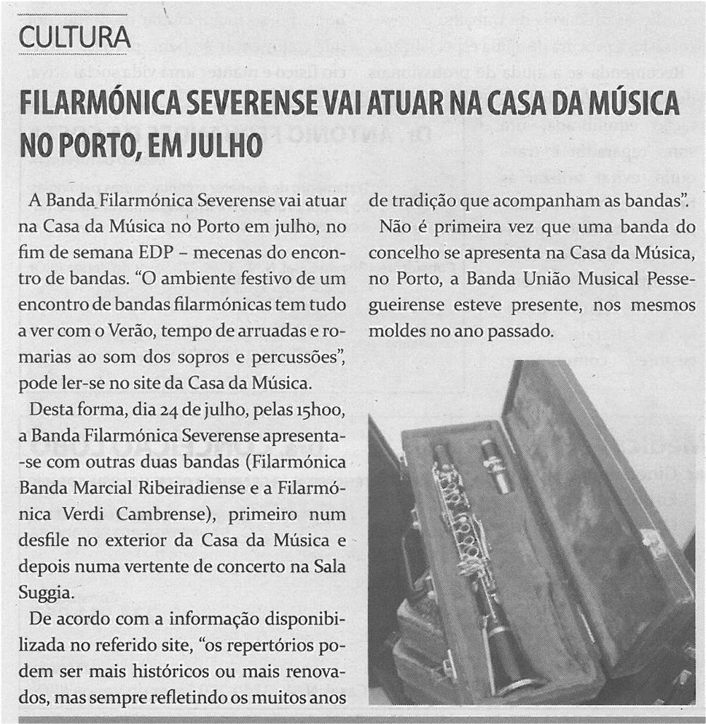 TV-jun14-p18-Filarmónica severense vai atuar na Casa da Música no Porto, em Julho