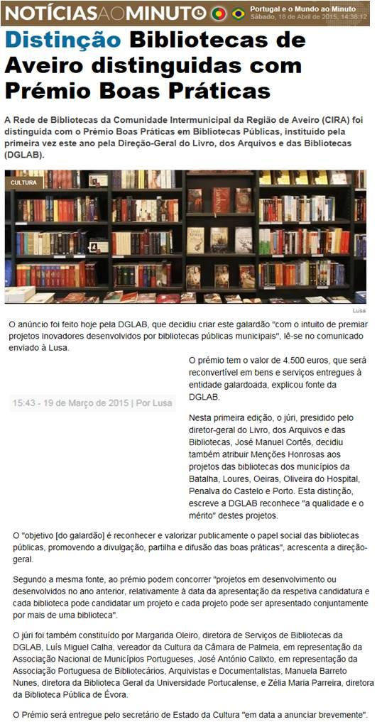 Noticias ao Minuto [em linha]-19mar.'15-Distinção : bibliotecas de Aveiro distinguidas com Prémio Boas Práticas.jpg
