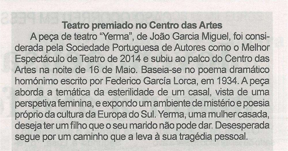 BV-2.ªmaio'15-p.8-Teatro premiado no Centro das Artes.jpg