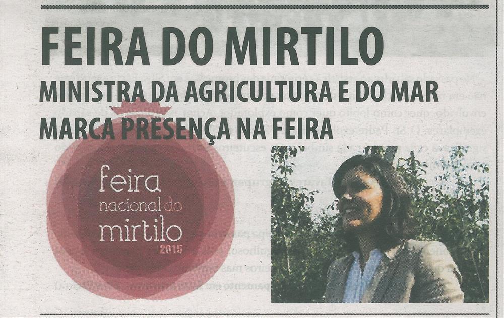 TV-jun.'15-p.1-Feira do Mirtilo : Ministra da Agricultura e do Mar marca presença na Feira : Feira Nacional do Mirtilo 2015.jpg