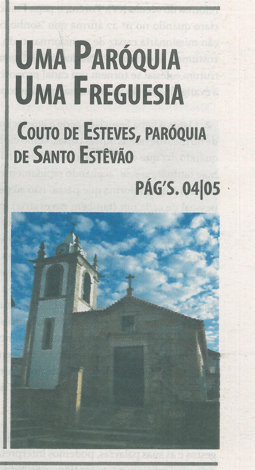TV-dez.'15-p.1-Couto de Esteves : Paróquia de Santo Estêvão : uma Paróquia : uma Freguesia.jpg