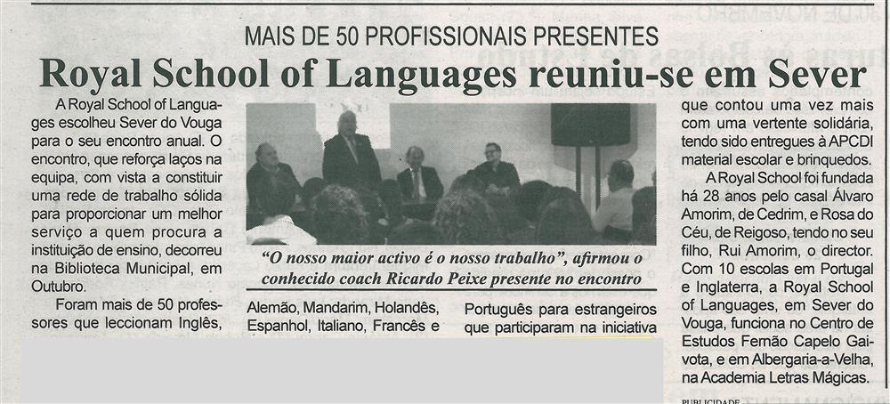 BV-1.ªnov.'15-p.6-Royal School of Languages reuniu-se em Sever : mais de 50 profissionais presentes.jpg
