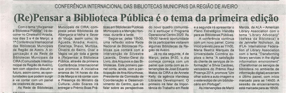 BV-1.ªMar.'16-p.16-Repensar a biblioteca pública é o tema da primeira edição : Conferência Internacional das Bibliotecas Municipais da Região de Aveiro.jpg