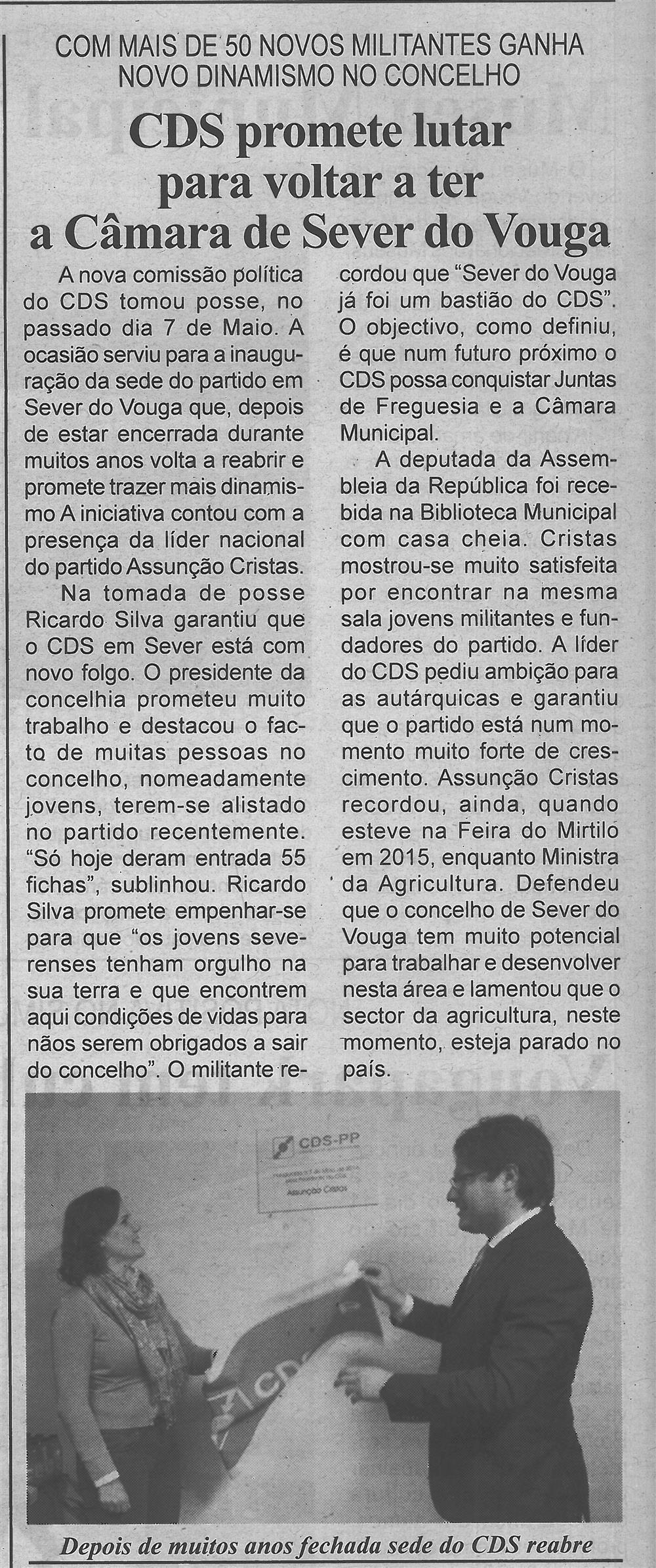 BV-2.ªmaio'16-p.4-CDS promete lutar para voltar a ter a Câmara de Sever do Vouga : com mais de 50 novos militantes ganha novo dinamismo no concelho.jpg