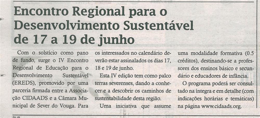 TV-jun.'16-p.20-Encontro Regional para o Desenvolvimento Sustentável de 17 a 19 de junho.jpg