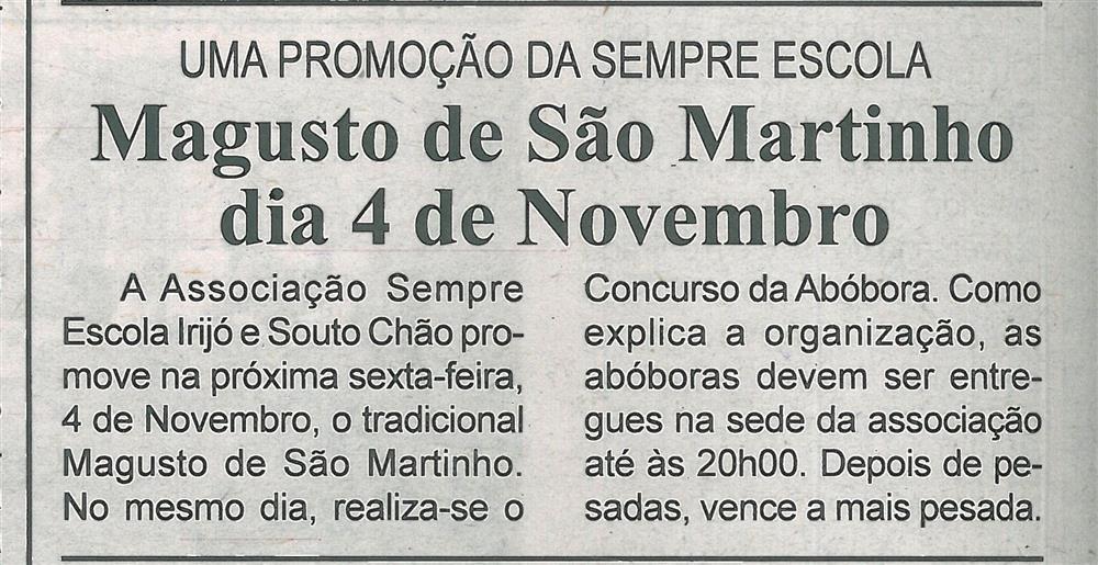 BV-1.ªnov.'16-p.8-Magusto de São Martinho dia 4 de novembro : uma promoção da Sempre Escola.jpg