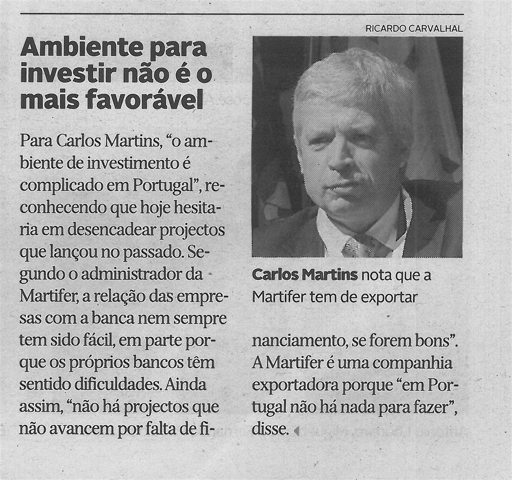 DA-12nov.'16-p.11-Ambiente para investir não é o mais favorável : Carlos Martins nota que a Martifer tem de exportar.jpg