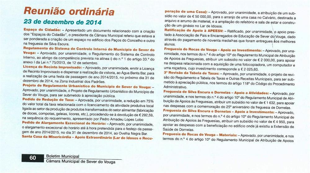 BoletimMunicipal-n.º32-nov.'15-p.60-Reunião ordinária [de] 23 de dezembro de 2014 [1.ª parte de duas] : deliberações.jpg
