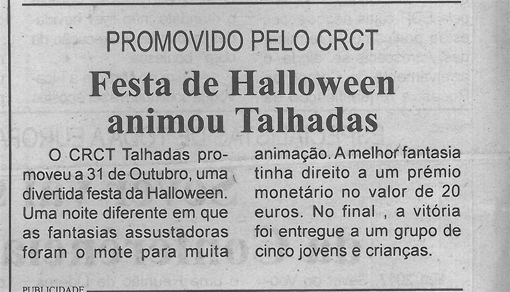 BV-2.ªnov.'16-p.6-Festa de Halloween animou Talhadas : promovido pelo CRCT.jpg