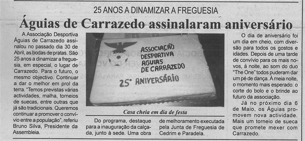 BV-1.ªmaio'17-p.6-Águias de Carrazedo assinalaram aniversário : 25 anos a dinamizar a freguesia.jpg