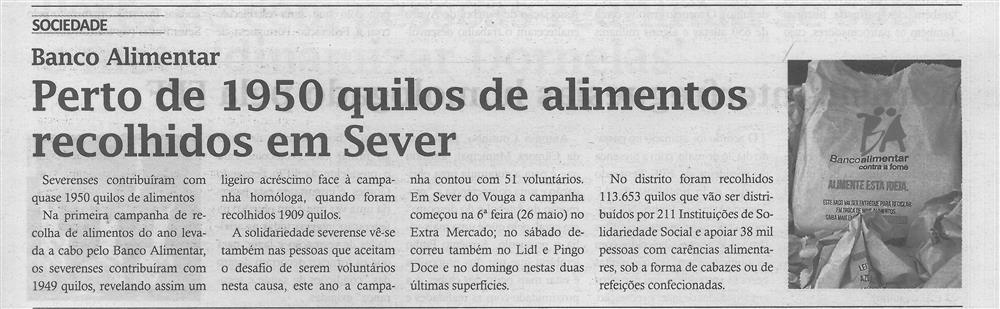 TV-jun.'17-p.3-Perto de 1950 quilos de alimentos recolhidos em Sever : Banco Alimentar.jpg