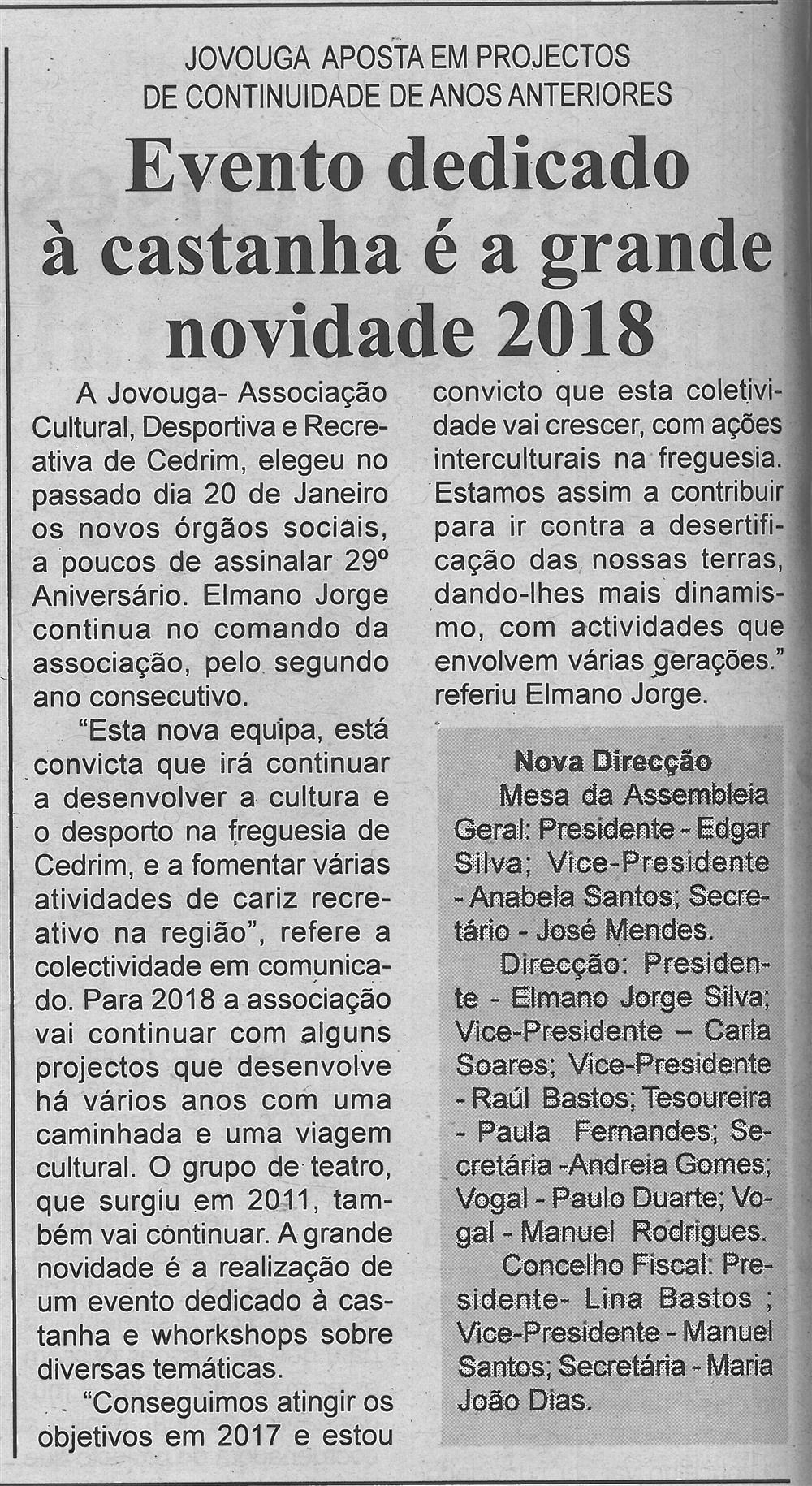 BV-1.ªfev.'18-p.4-Evento dedicado à castanha é a grande novidade 2018 : Jovouga aposta em projetos de continuidade de anos anteriores.jpg