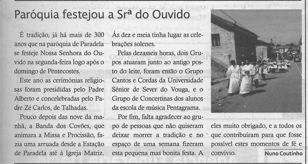 TV-jun'18-p.15-Paróquias : Paróquia de N.ª Sra. do Loreto : Paradela do Vouga : paróquia festejou a Sra. do Ouvido.jpg
