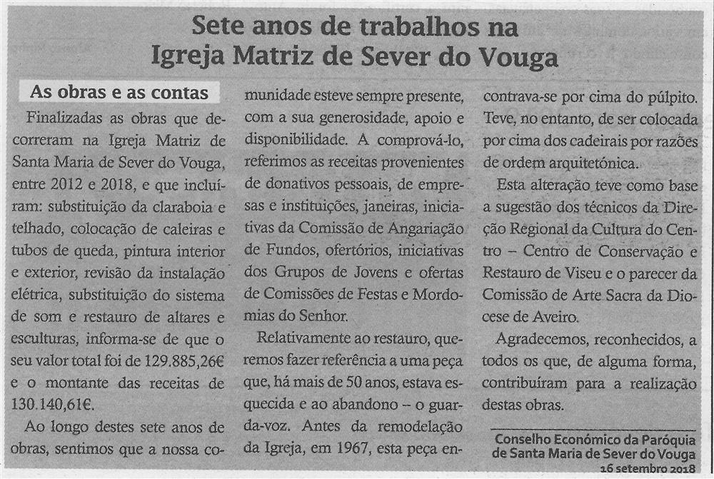 TV-out.'18-p.13-Paróquias : Paróquia de Santa Maria de Sever : Sever do Vouga : sete anos de trabalhos na Igreja Matriz de Sever do Vouga.jpg