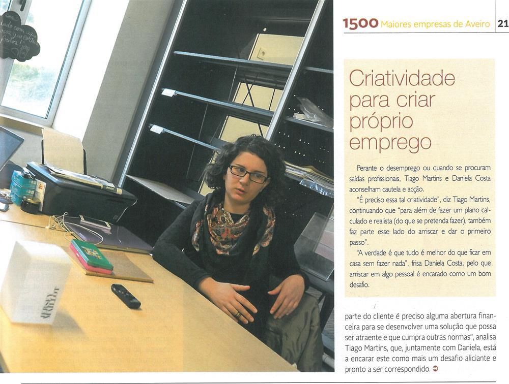 DA-04jan.'15-sup.,p.21-Empírica faz uso e abuso da criatividade [4.ª parte de seis] : Daniela Costa e Tiago Martins criaram, em Sever do Vouga, a Empírica.jpg