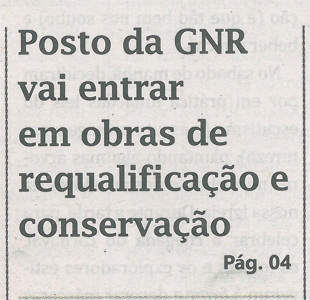 Posto da GNR vai entrar em obras de requalificação e conservação.jpg