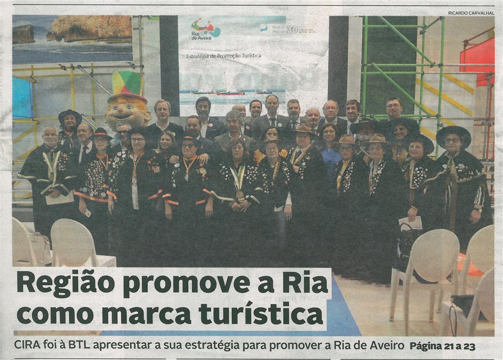 DA-16mar.'19-p.1-Região promove a Ria como marca turística : CIRA foi à BTL apresentar a sua estratégia para promover a Ria de Aveiro.jpg