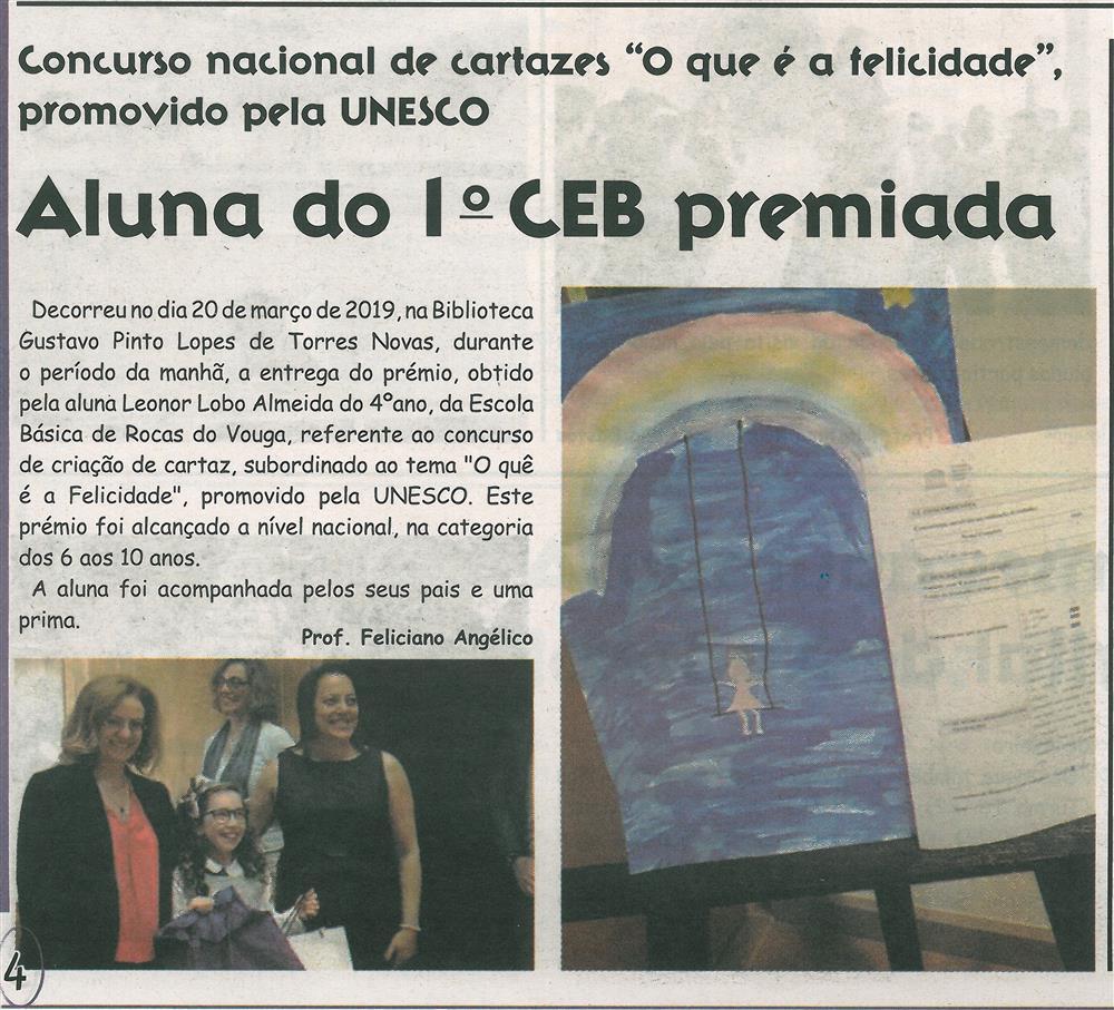 """JE-abr.'19-p.4-Concurso nacional de cartazes """"O que é a felicidade"""" : aluna do 1.º CEB premiada.jpg"""