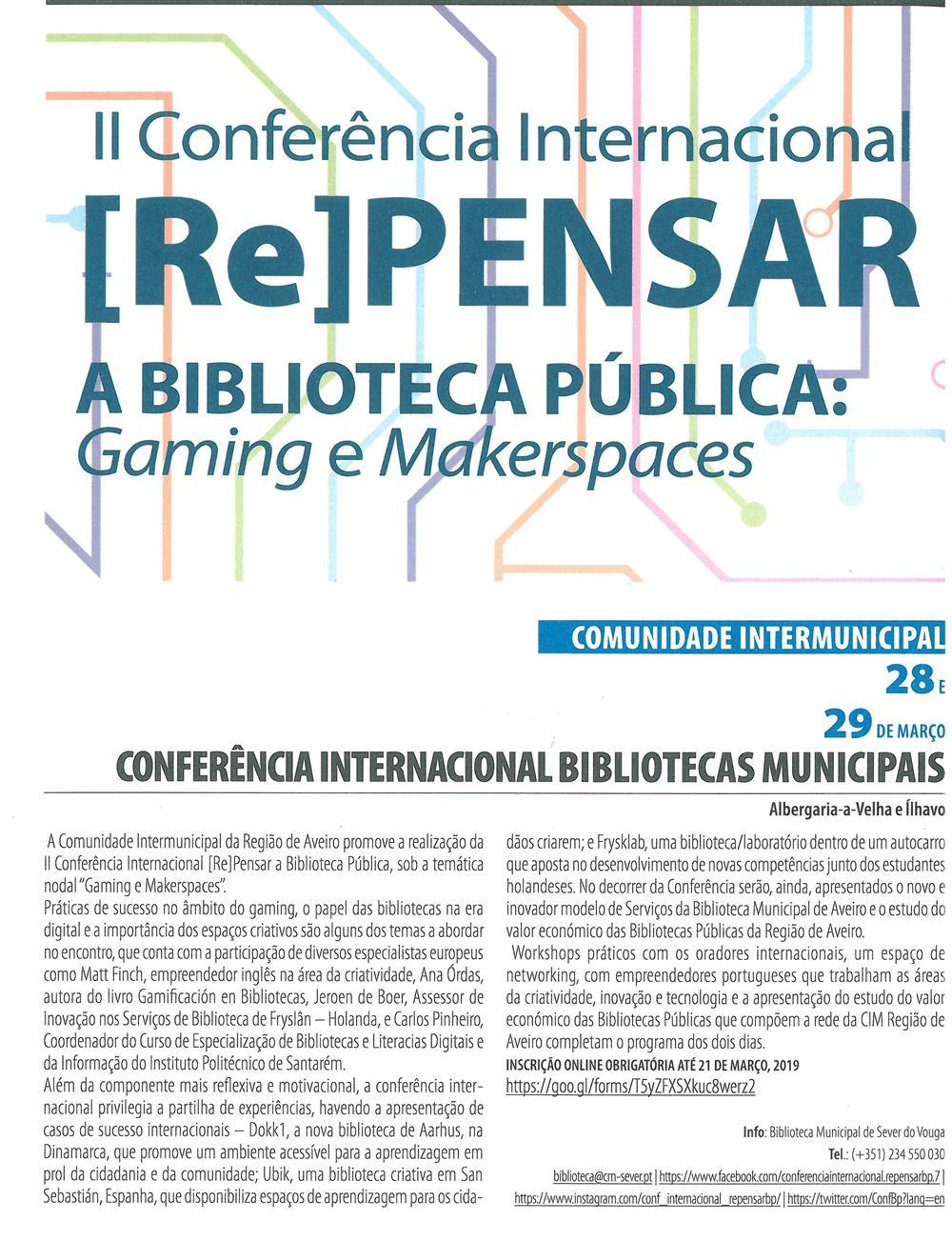 AgRegAveiro-2019-p.4-II Conferência Internacional Repensar a Biblioteca Pública : Gaming e Makerspaces : Conferência Internacional Bibliotecas Municipais.jpg