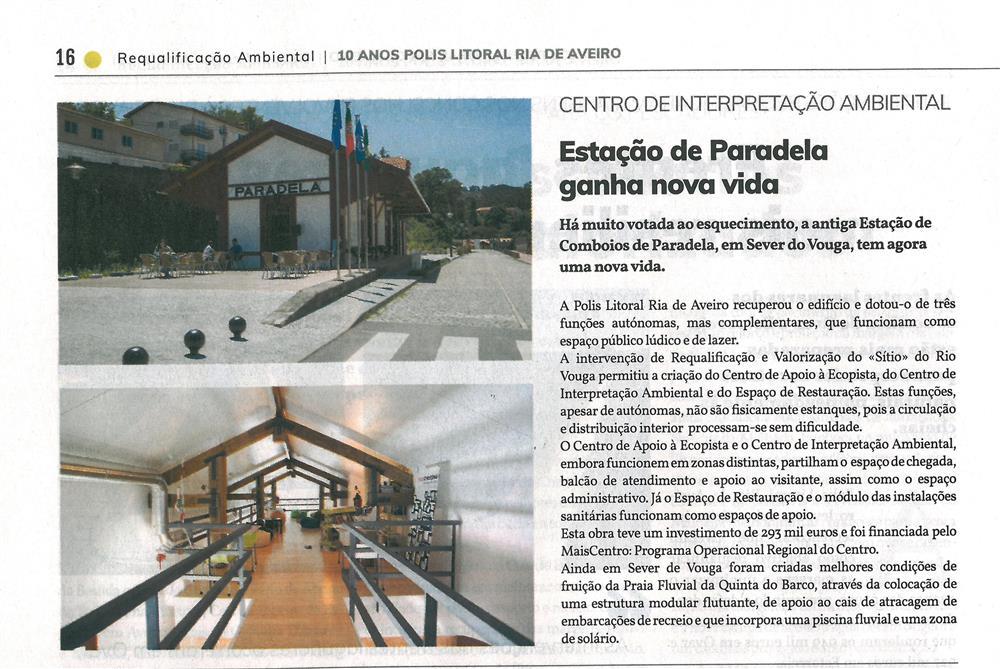 PolisLRiaAv-27jun.'19-p.16-Estação de Paradela ganha nova vida : Centro de Interpretação Ambiental.jpg